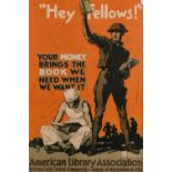 After John E. Sheridan (1880-1948) American, 'Hey Fellows, Your Money Brings the Book we Need When