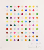 Damien Hirst, (B. 1965), Untitled gift spot, framed screenprint in colours, signed in pencil, 'For