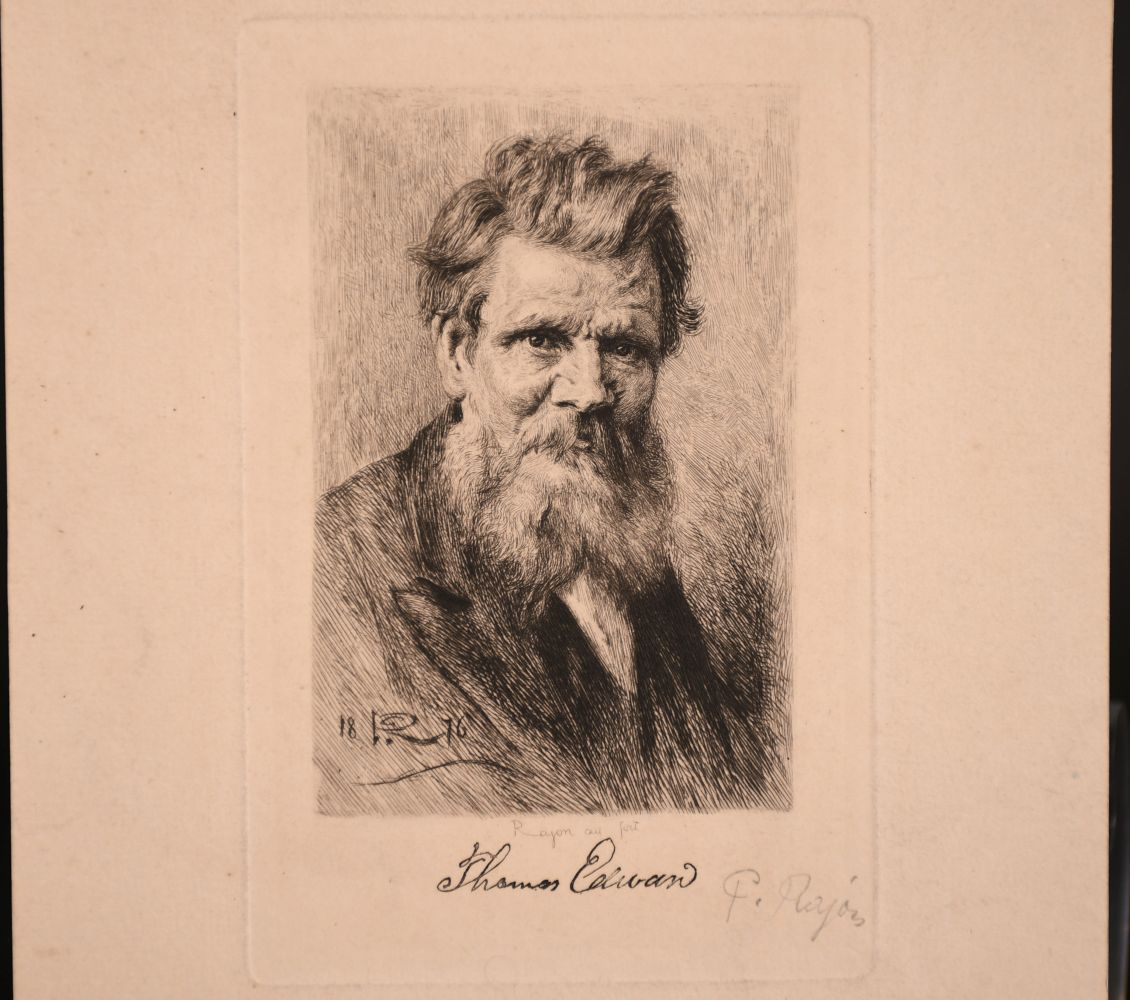 A small collection of etchings, various sizes, (6) - Image 3 of 7