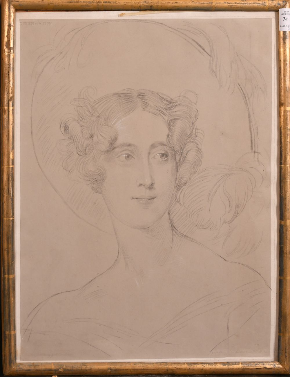 After Sir Thomas Lawrence, 'the Countess of Wilton', and a later copy of Saxtons map of Kent, - Image 2 of 4