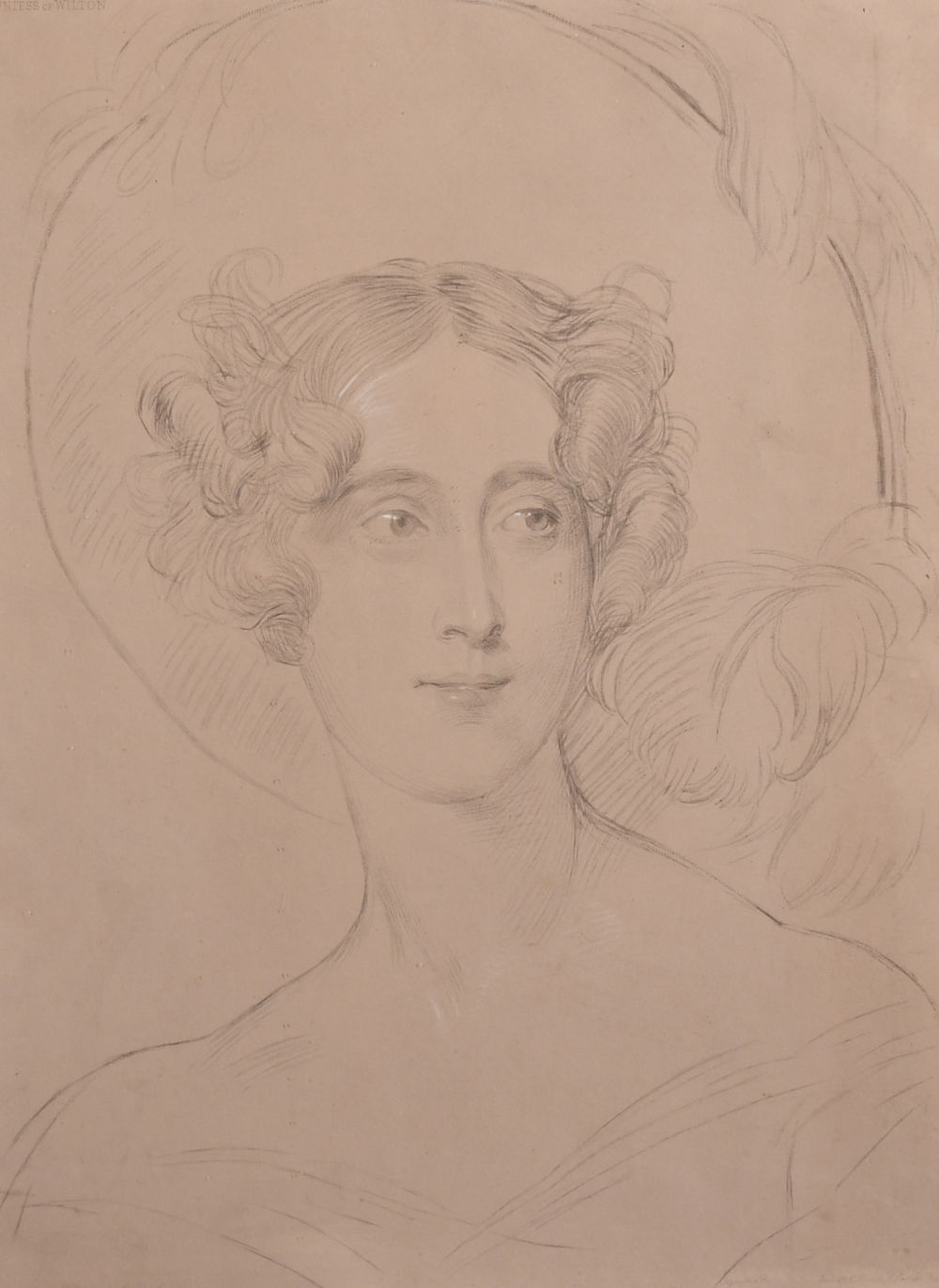 After Sir Thomas Lawrence, 'the Countess of Wilton', and a later copy of Saxtons map of Kent,