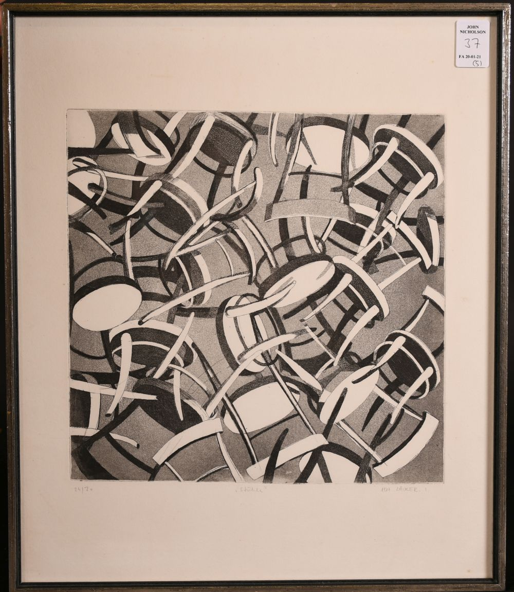 A group of five 20th century prints. - Image 2 of 6