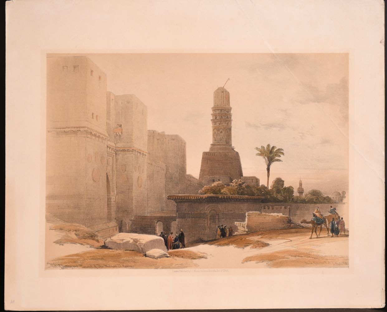 After David Roberts (1796-1964) British, Two holy land lithographs and a collection of prints by - Image 2 of 5