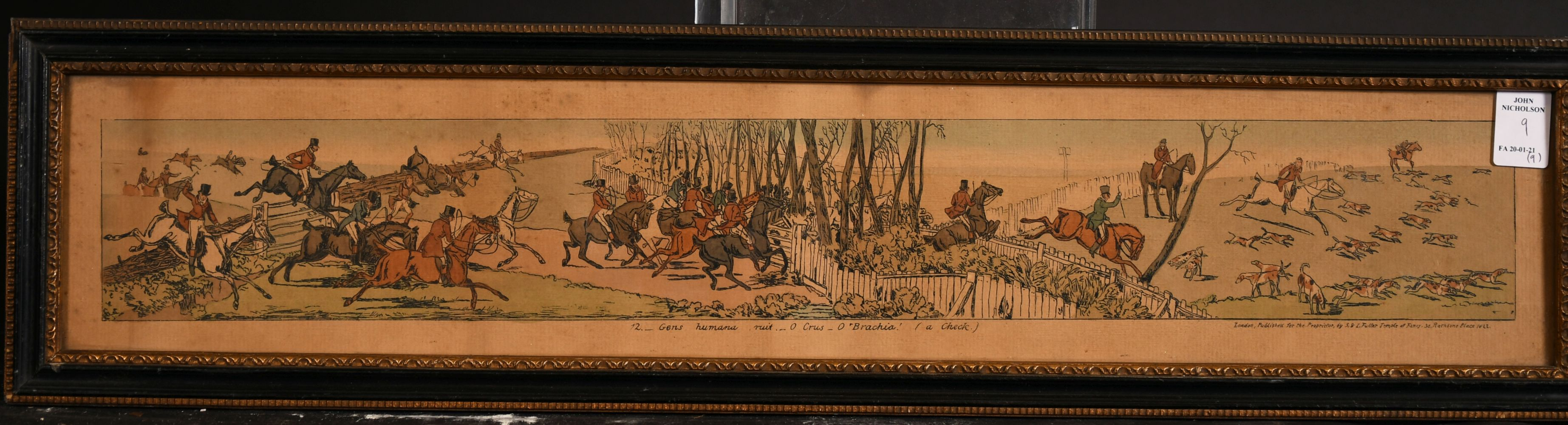 A collection of nine hunting and coaching prints published by S & L fuller, Rathbone Place, each 3. - Image 2 of 4