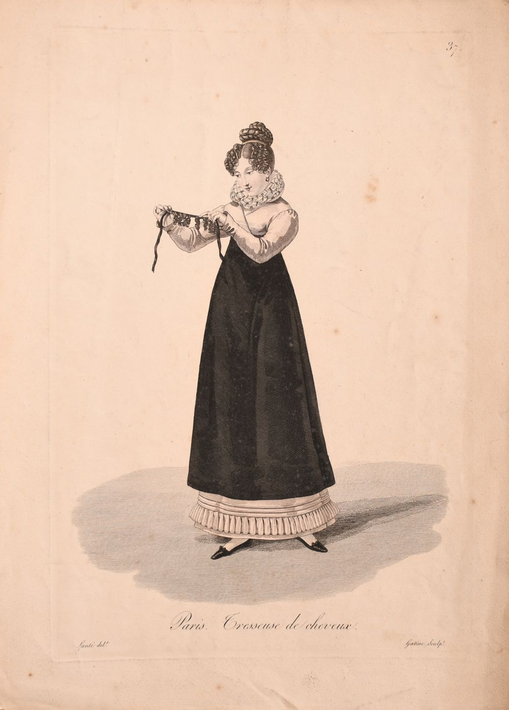 A collection of seven 19th century Swiss hand coloured prints of regional costumes, two of them - Image 6 of 9