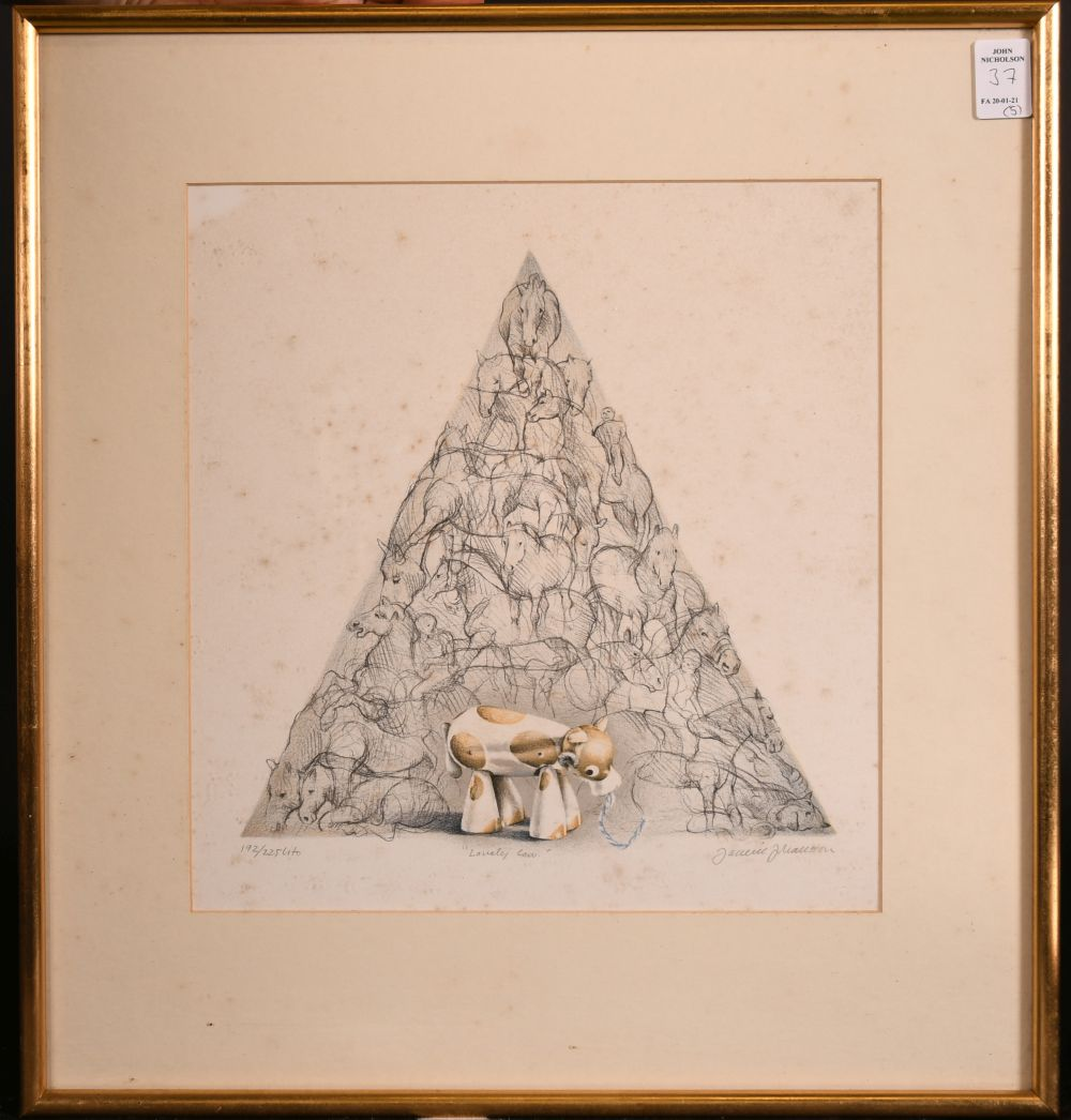 A group of five 20th century prints. - Image 5 of 6