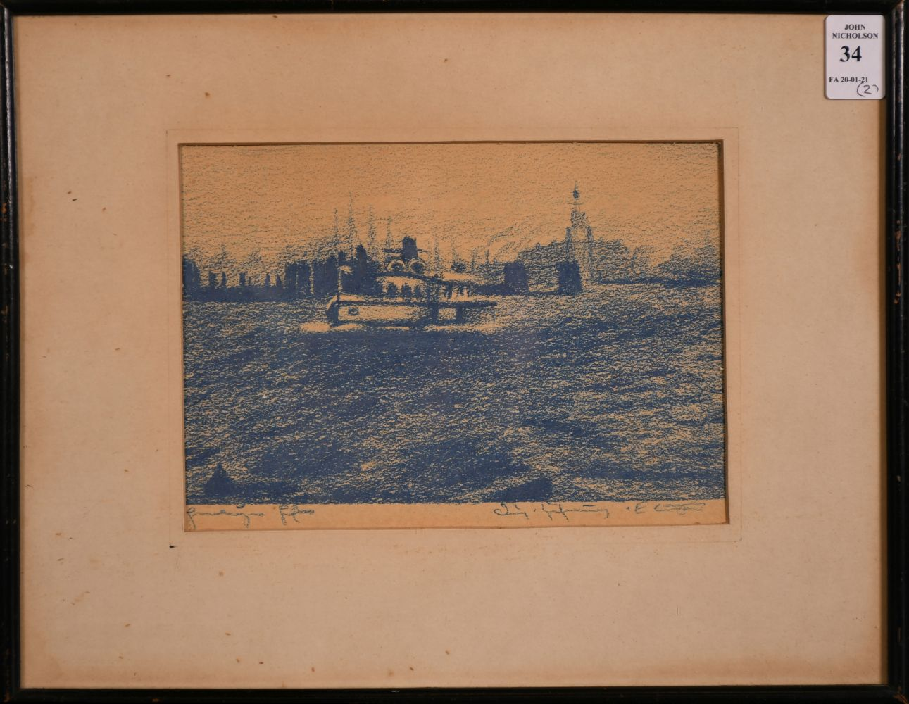 "A pair of prints of port scenes, 5.5"" x 8"". - Image 2 of 4"