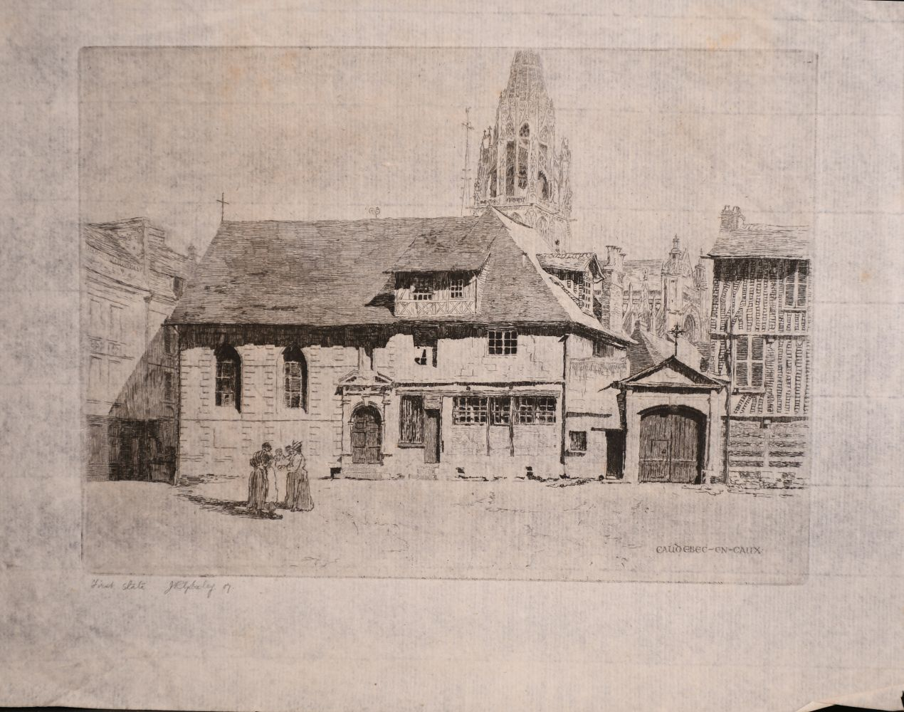 A small collection of etchings, various sizes, (6) - Image 7 of 7