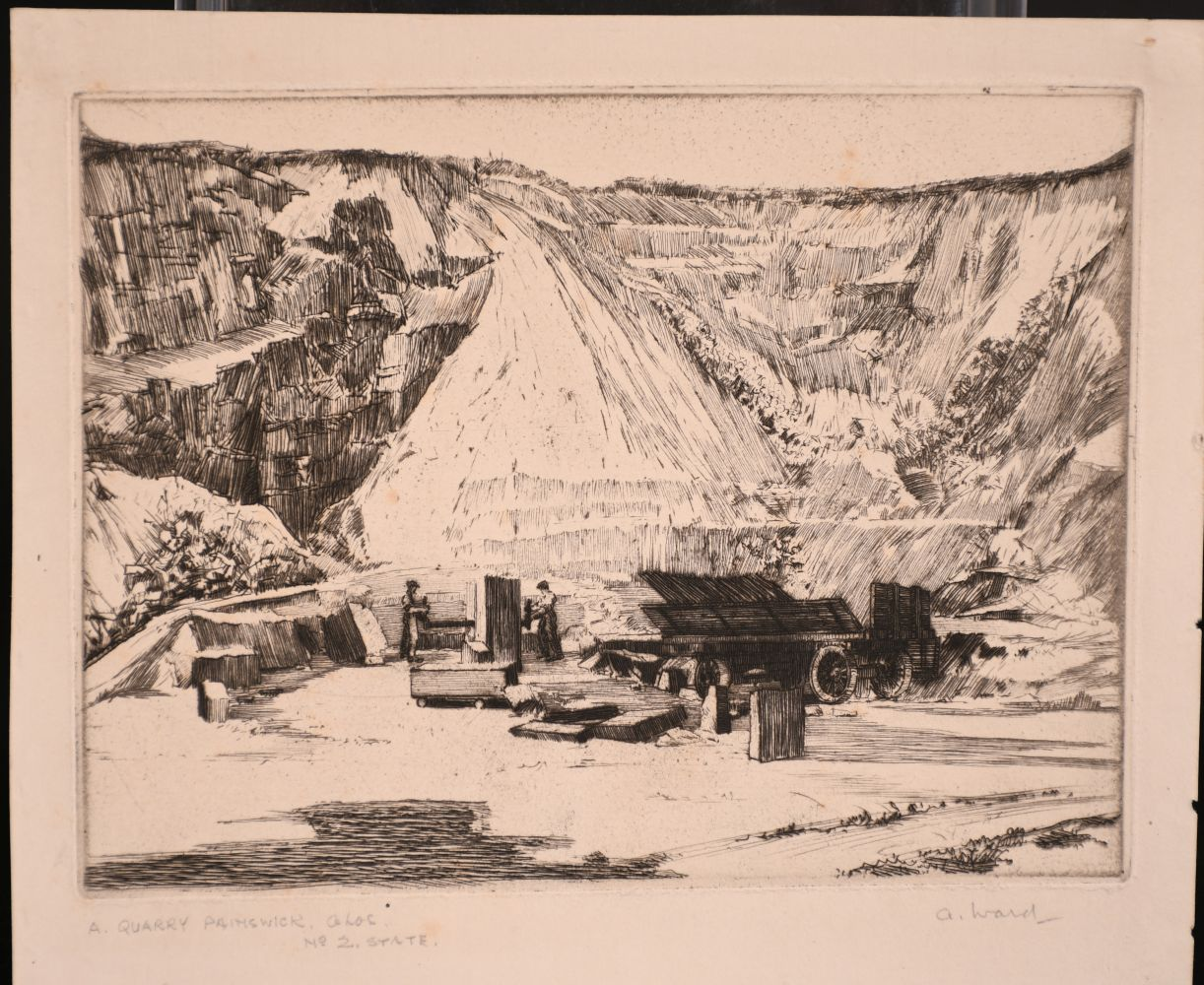 A small collection of etchings, various sizes, (6) - Image 5 of 7