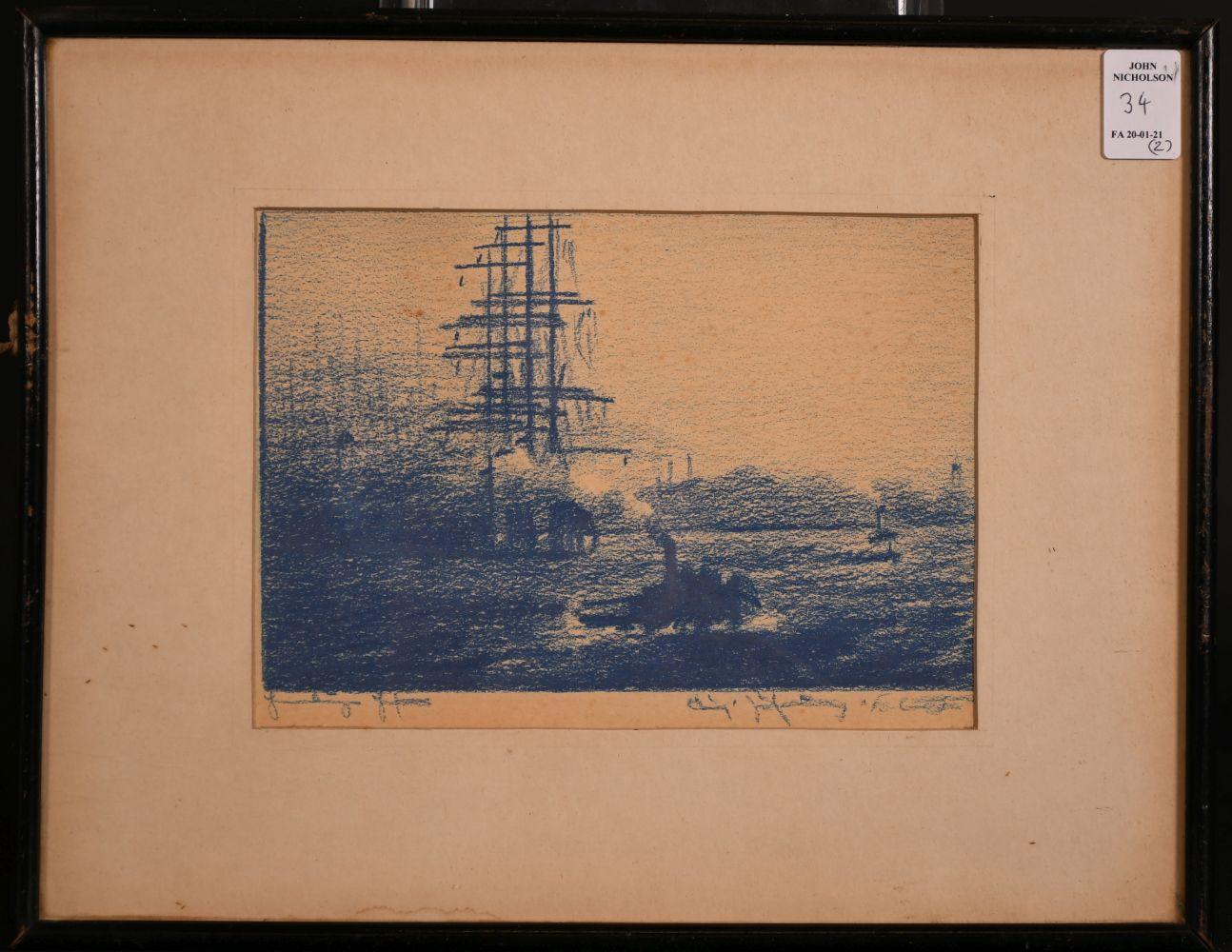 "A pair of prints of port scenes, 5.5"" x 8"". - Image 4 of 4"