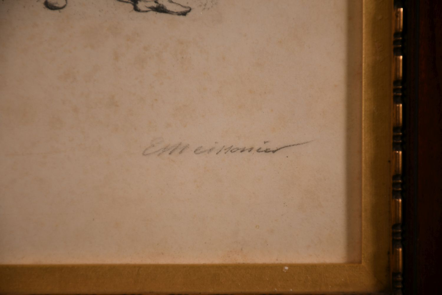 Ernest Meissonier (1815-1891) French, A pair of etchings of gallant cavaliers, signed in pencil, - Image 3 of 5