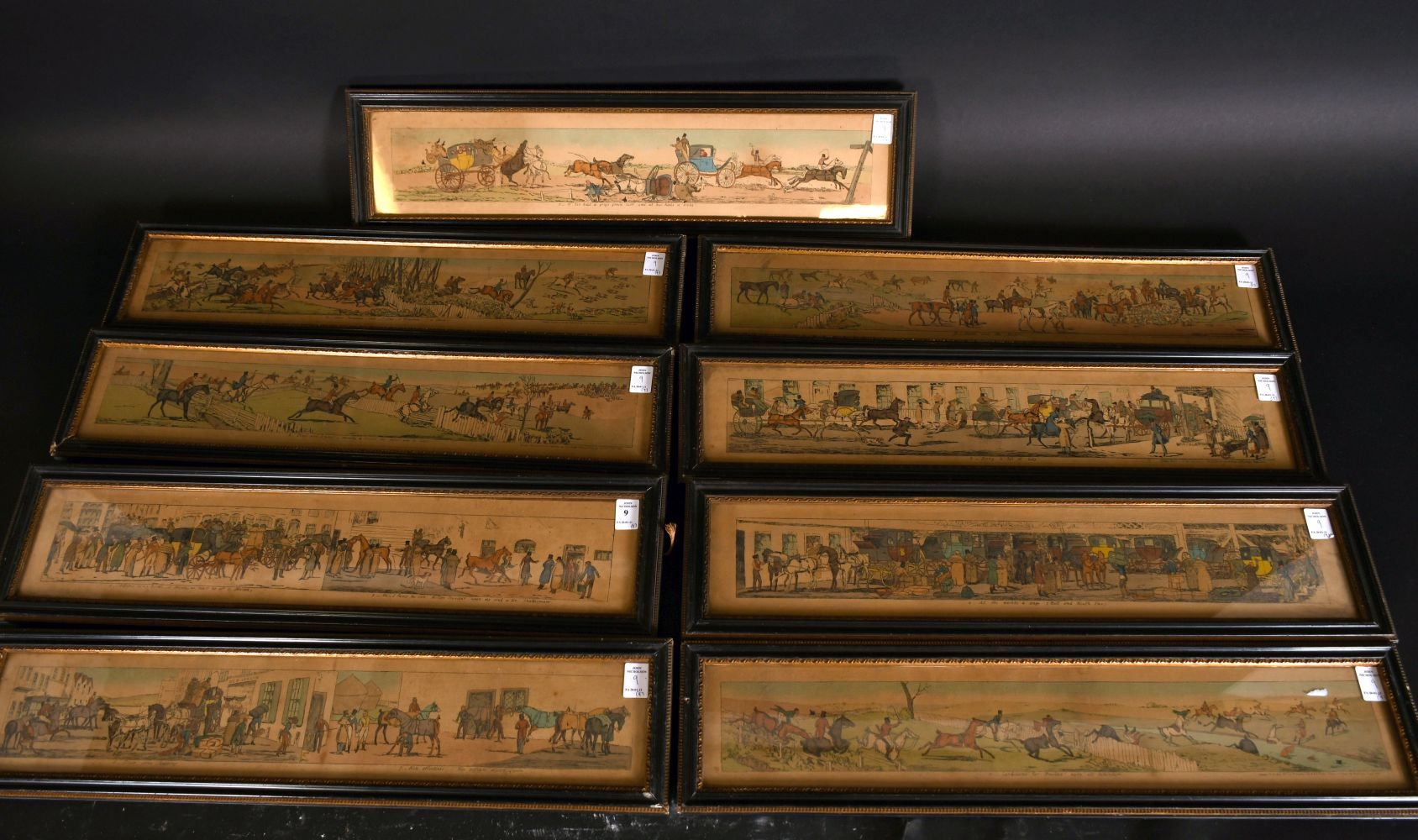 A collection of nine hunting and coaching prints published by S & L fuller, Rathbone Place, each 3. - Image 4 of 4