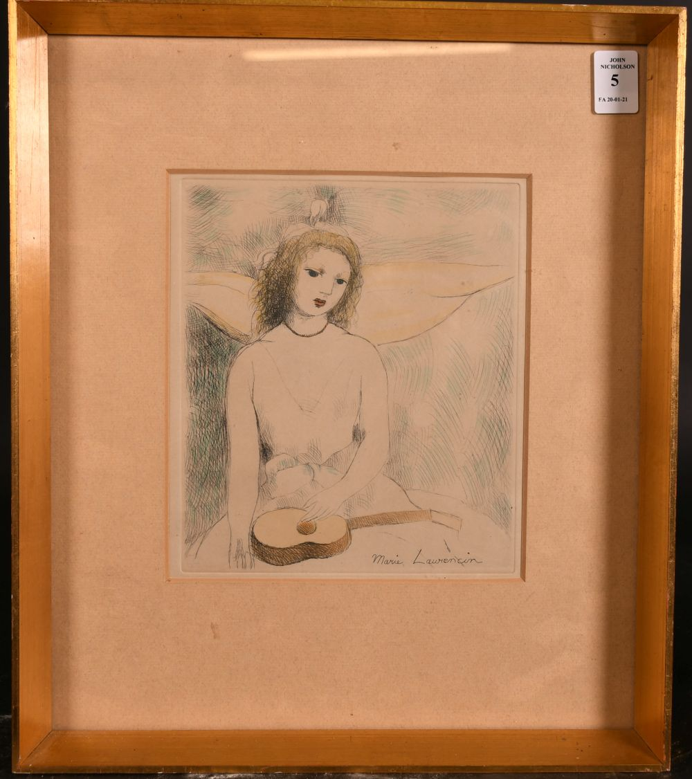 """Marie Laurencin (1883-1956) French, An etching of a seated lady, 8"""" x 6.5"""". - Image 2 of 4"""