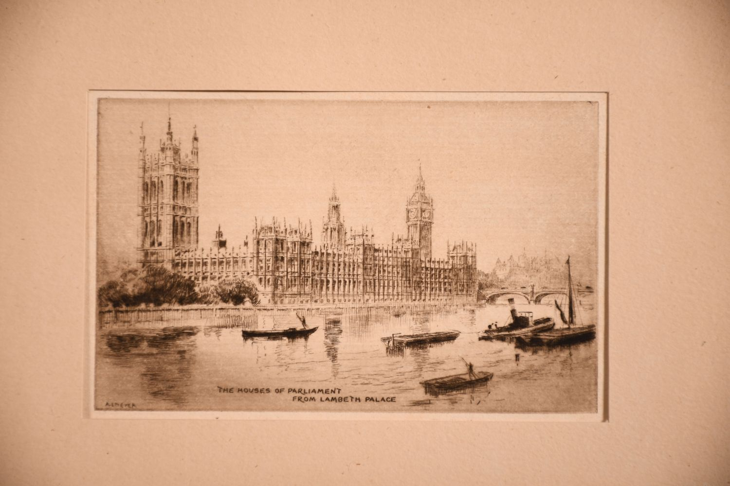 A small collection of etchings, various sizes, (6) - Image 2 of 7