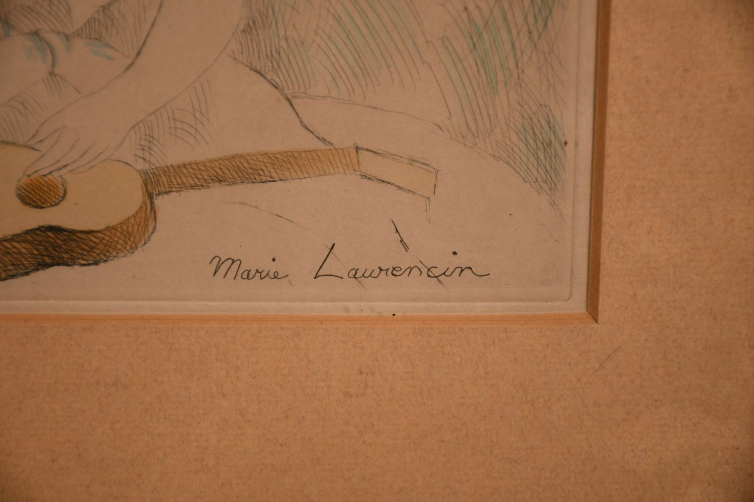 """Marie Laurencin (1883-1956) French, An etching of a seated lady, 8"""" x 6.5"""". - Image 3 of 4"""