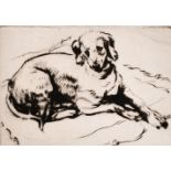 Athena Andrade, A group of dog etchings signed in pencil, etchings, various sizes, (5)