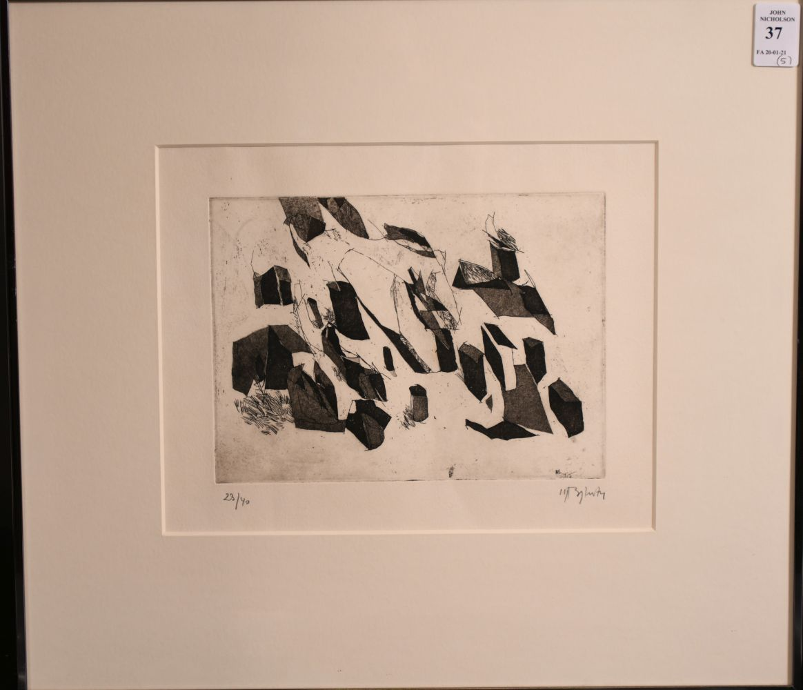 A group of five 20th century prints. - Image 3 of 6