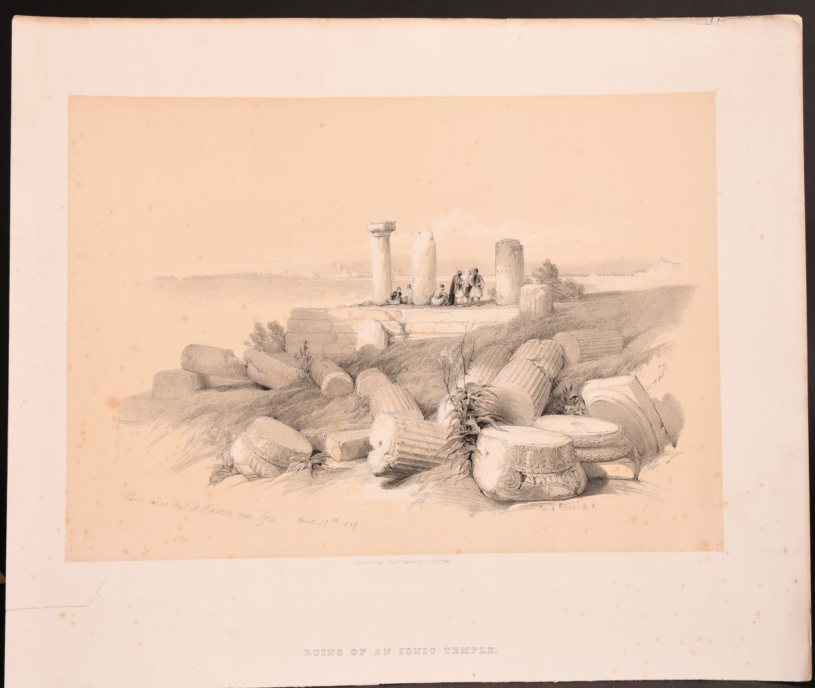 After David Roberts (1796-1964) British, Two holy land lithographs and a collection of prints by - Image 3 of 5