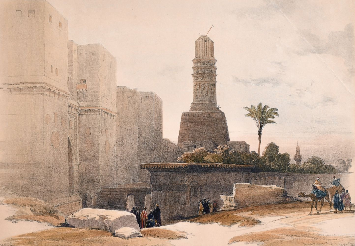 After David Roberts (1796-1964) British, Two holy land lithographs and a collection of prints by