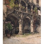 Luigi Kasimir (1888-1962) Austro-Hungarian, 'Kornmesserhaus in Bruck', colour etching signed in