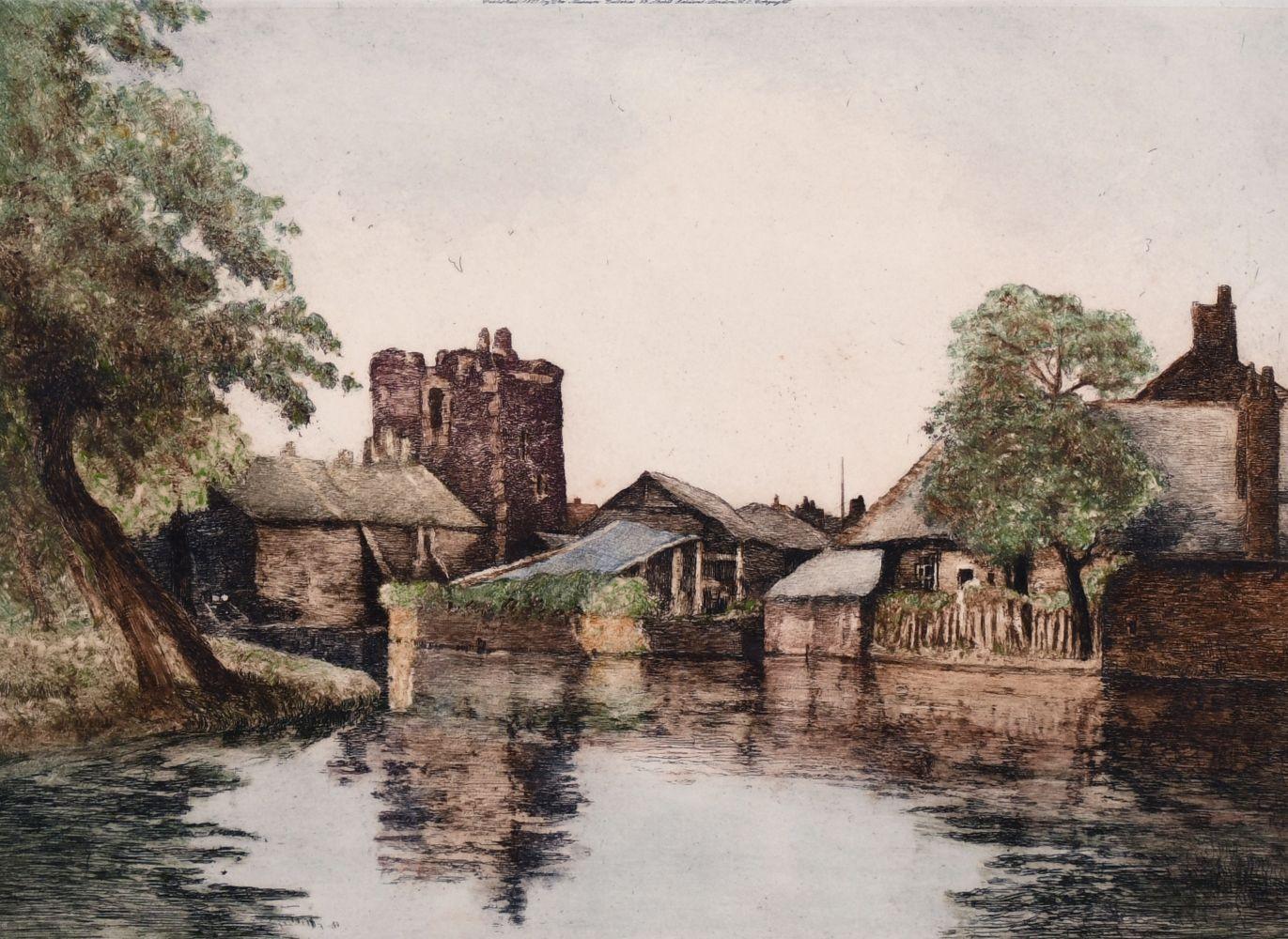 William Tatton Winter (1855-1928). 'Sudbury Watch Tower, Canterbury' Etching, Signed in Pencil.