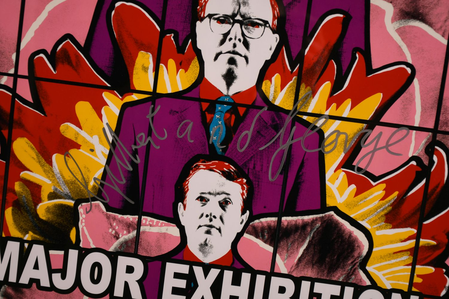 """Gilbert & George, A signed exhibition poster from the Tate Modern, 30"""" x 20"""". - Image 3 of 4"""