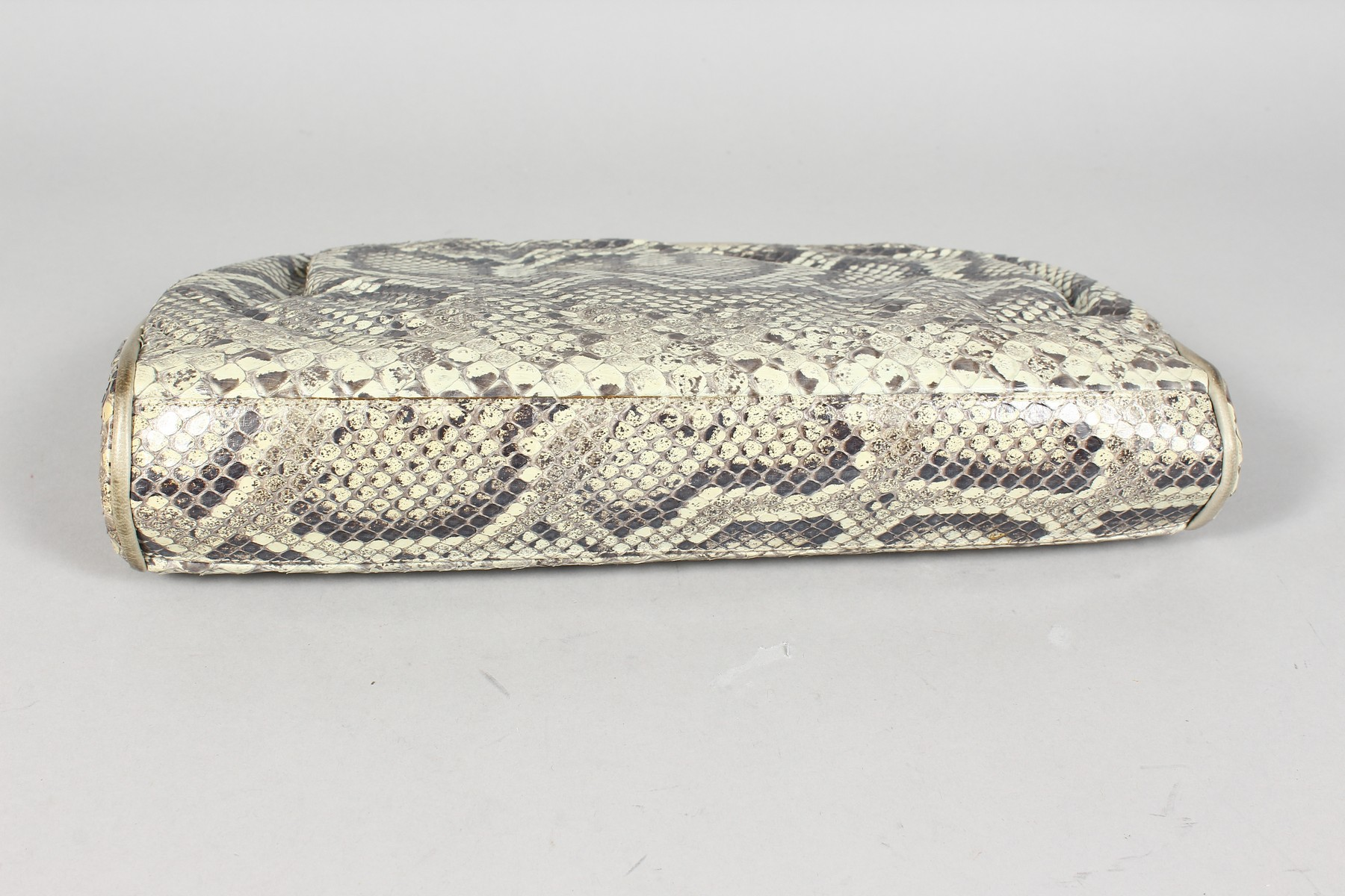 A CHANEL SNAKESKIN BAG with leather interior. Made in Italy. 11ins long. - Image 9 of 9