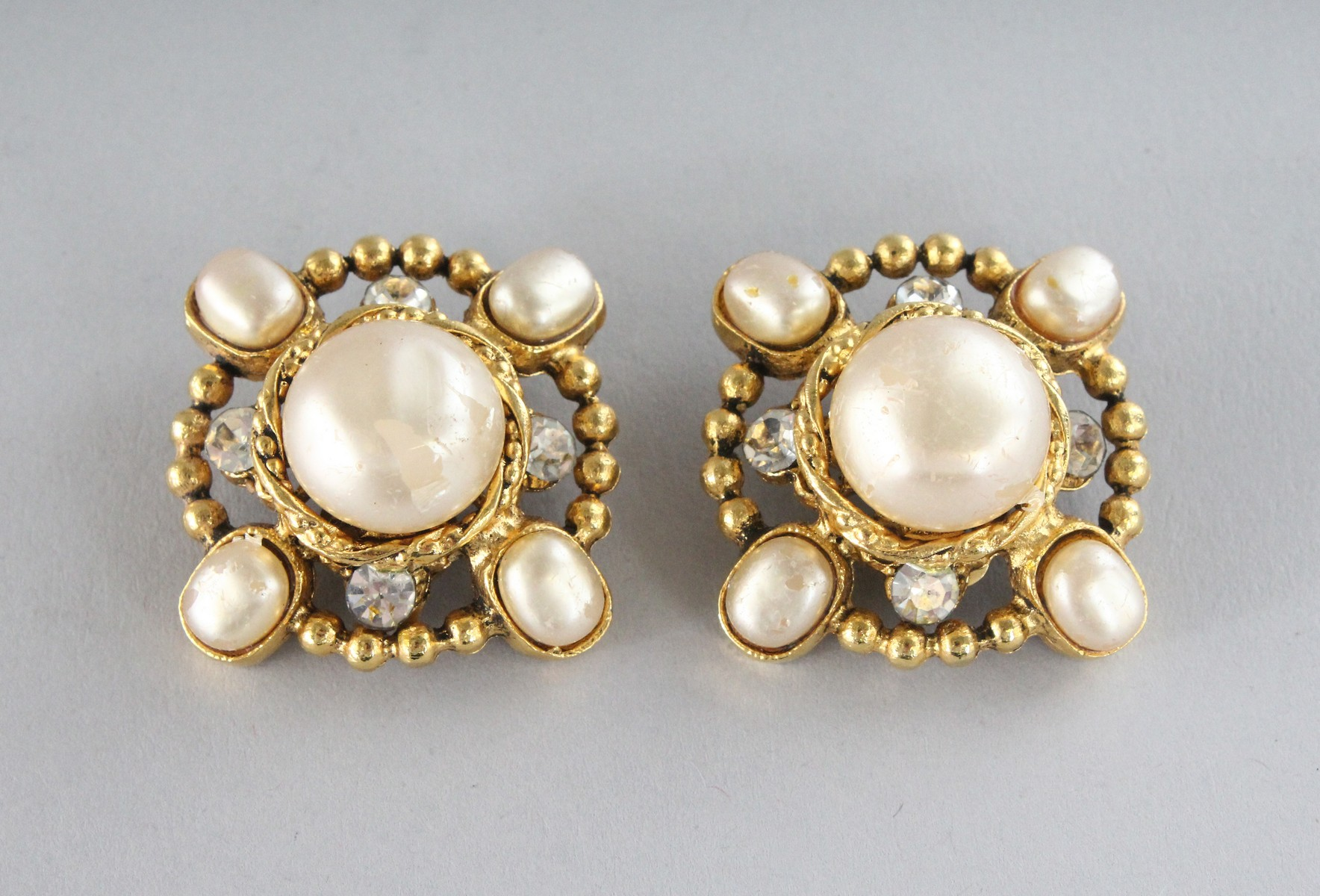 A GOOD PAIR OF CHANEL PEARL EAR CLIPS. - Image 2 of 4