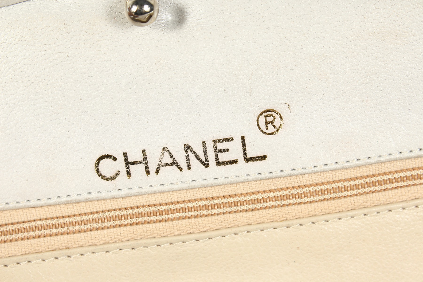 A CHANEL SNAKESKIN BAG with leather interior. Made in Italy. 11ins long. - Image 3 of 9
