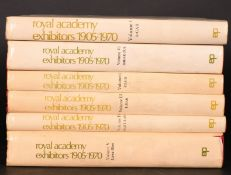 'THE ROYAL ACADEMY EXHIBITION 1905-1970'. Vols. 1-6. Published by E.P. Publishing, Ltd. 1982.