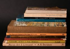 A box lot. Books of regional art works from Suffolk, Yorkshire etc. (12).