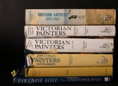 A box lot. Victorian Painters and others. 6 Vols.