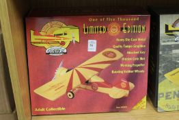 A boxed limited edition diecast advertising aeroplane.