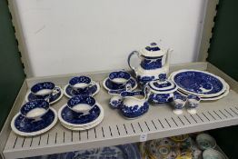 A quantity of Spode Tower pattern blue and white china.