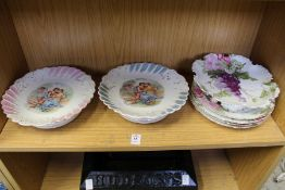 A pair of musical porcelain comports etc.