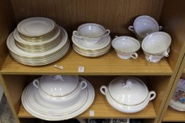 A Royal Worcester Contessa porcelain six place dinner services (appears unused).