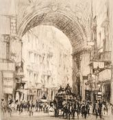 William Walcot R. E. Hon. R. I. B. A. (1874-1943) Scottish, 'Arc San Carlo - Naples', Drypoint
