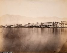 A collection of four 19th century Albumen prints of Sicilian landmarks and locations, inscribed, all