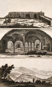C. Le Brun (1619-1690) French, A collection of biblical topography, engravings, inscribed in pencil,