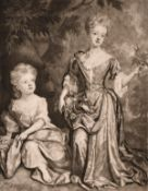 J. Smith after Kneller, two mezzotint prints, the first of Mary II as Queen and the second of the