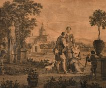 T. Major after Franz de Paula Ferg, a set of four 18th century engravings of the four seasons,
