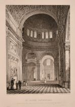 A collection of 19th century engravings of St Paul's Cathedral including 'Interior of the Dome,