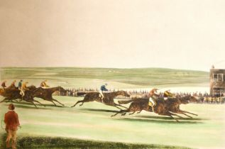 "C. N. Smith after S. Alken, 'The Cambridgeshire Stakes', 14"" x 20.5"". and two other prints of"