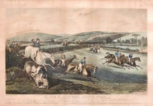 George and Charles Hunt after F. C. Turner, 'Vale of Aylesbury Steeple Chase', set of four