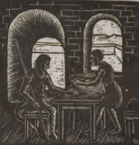 Hermann Fechenbach (1897-1986) German, A group of biblical woodcuts, signed numbered and stamped,