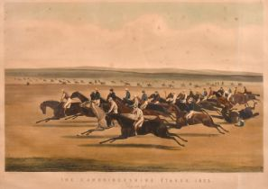 'The Cambridgeshire Stakes, 1853 They Are Off', engraving, inscribed 'Engraved by C. N. Smith',