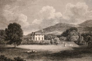 A collection of 19th century engravings including 'Edinburgh, From The Calton Hill' and 'Friars