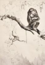 Leonard Robert Brightwell (1889-1983) British, 'No Monkeying', drypoint etching, signed in pencil,