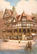 Robert Herdman-Smith (1879-1945) British, Two views of Chester, coloured etching, signed and