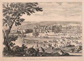 Israel Silvestre (1621-1691) French, 'Veue de Chateau de Fontainebleau' and 'Prospectus Regiae